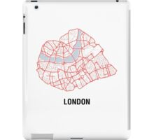 London Heart – hand drawn map of central London iPad Case/Skin