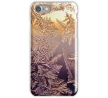 Norwegian sunset through frosted window iPhone Case/Skin