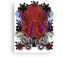 octopus kraken power Canvas Print