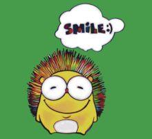 Happy Hedgehog with Smile Kids Tee