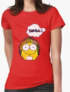 Happy Hedgehog with Smile Womens Fitted T-Shirt