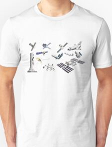 Spacecraft - Space Vehicles - The Kids' Picture Show - 8-Bit Unisex T-Shirt
