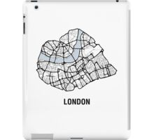 London Heart – hand drawn map of central London (black) iPad Case/Skin