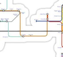 Pokemon - London Underground Magnet Train Map Sticker