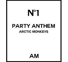 No. 1 Party Anthem Photographic Print