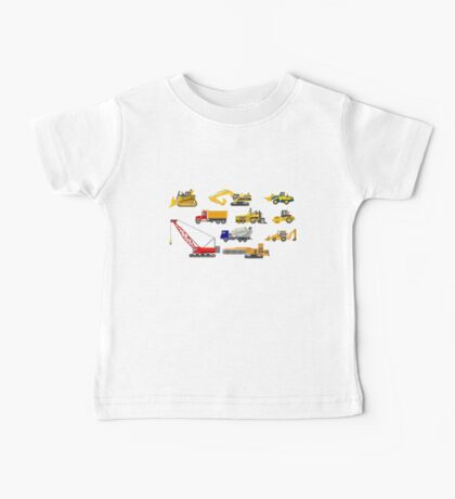 Construction Vehicles - The Kids' Picture Show - 8-Bit Baby Tee