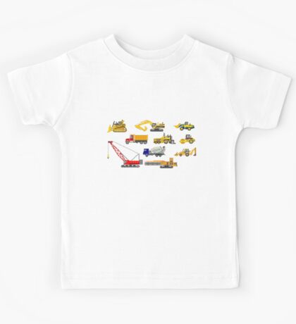 Construction Vehicles - The Kids' Picture Show - 8-Bit Kids Tee