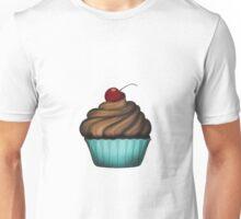 Cute Blue Cupcake Unisex T-Shirt