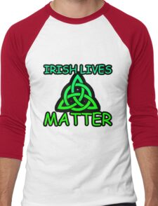 Irish Lives Matter  Men's Baseball ¾ T-Shirt
