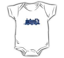 Blue Locomotive - The Kids' Picture Show - 8-Bit Train One Piece - Short Sleeve