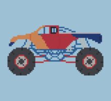 Monster Truck - The Kids' Picture Show - 8-Bit Kids Tee