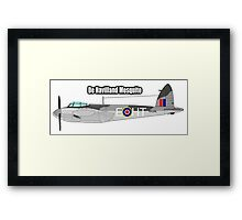 De Havilland Mosquito, RAF, WWII, Fighter, Bomber, Wold War II, British, multi-role, combat, aircraft Framed Print