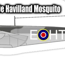 De Havilland Mosquito, RAF, WWII, Fighter, Bomber, Wold War II, British, multi-role, combat, aircraft Sticker