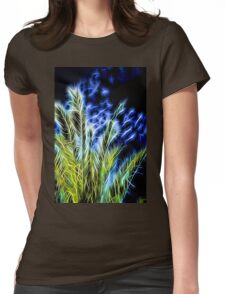 Neon Palm Womens Fitted T-Shirt