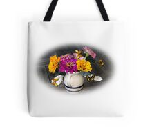 My Summer Remembrance ~ Zinnias Tote Bag