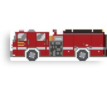 Fire Engine - The Kids' Picture Show - 8-Bit Canvas Print