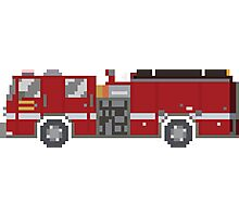Fire Engine - The Kids' Picture Show - 8-Bit Photographic Print