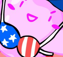 Patriotic Kirby Sticker