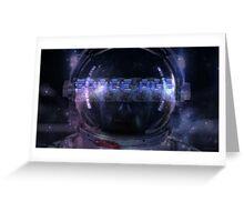 Space Age Astronaut Greeting Card