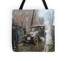 Auto Wreck in Washington DC, 1921. Colorized Tote Bag