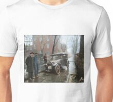 Auto Wreck in Washington DC, 1921. Colorized Unisex T-Shirt