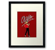 OLIVIA NEWTON-JOHN - 70's Totally Hot Framed Print
