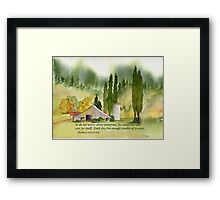 Worry... - Matthew 6:34 Framed Print