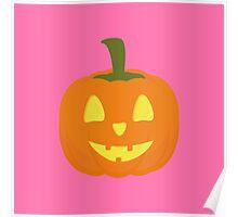 Classic light Halloween Pumpkin Poster