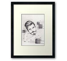Stache Framed Print