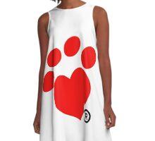 Heart Paw A-Line Dress