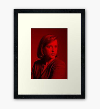Gillian Anderson - Celebrity Framed Print