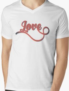 Love - Vintage Typography Girly Retro Tshirts and Gifts Mens V-Neck T-Shirt