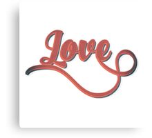 Love - Vintage Typography Girly Retro Tshirts and Gifts Canvas Print