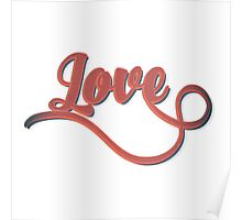 Love - Vintage Typography Girly Retro Tshirts and Gifts Poster