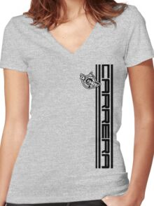 DLEDMV - Carrera Women's Fitted V-Neck T-Shirt