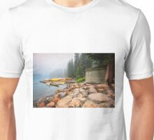 Moraine Lake and Boathouse Unisex T-Shirt
