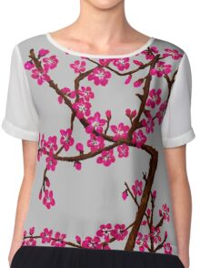 Cherry Blossoms Chiffon Top