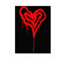 Twin Bleeding Hearts Art Print