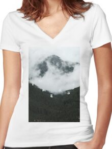 Jump Into The Fog Women's Fitted V-Neck T-Shirt