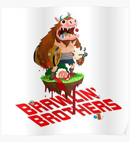 Brawling Brothers - ManBearPig Poster