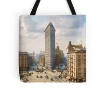 Flat Iron in New York City, ca 1903 colorized Tote Bag