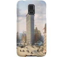 Flat Iron in New York City, ca 1903 colorized Samsung Galaxy Case/Skin