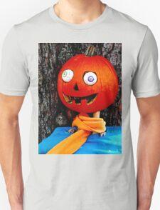 Crazy eyed pumpkin head Unisex T-Shirt