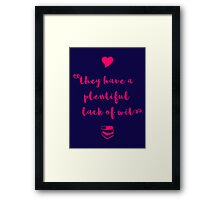 """""""A plentiful lack of wit"""" Shakespeare insult Framed Print"""