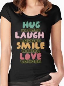 Hand drawn quotes Women's Fitted Scoop T-Shirt