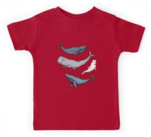 Whales are everywhere Kids Tee