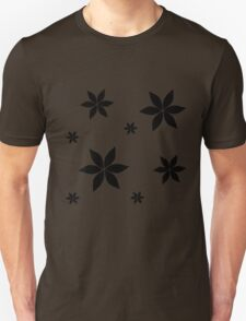 Black and White Flower Print Original Unisex T-Shirt