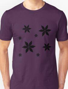 Black and White Flower Print Original Unisex T-Shirt