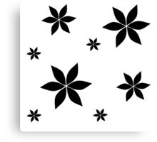 Black and White Flower Print Original Canvas Print