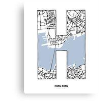 MAPHABET H: Hong Kong Canvas Print